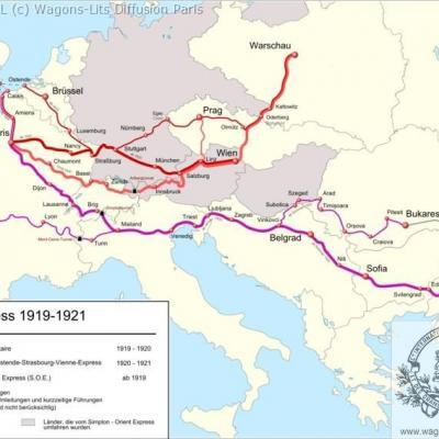 Wl trajet orient express 1919 a 1922