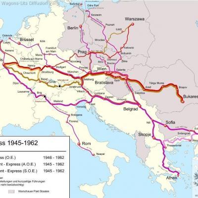 Wl trajet orient express 1945 a 1963