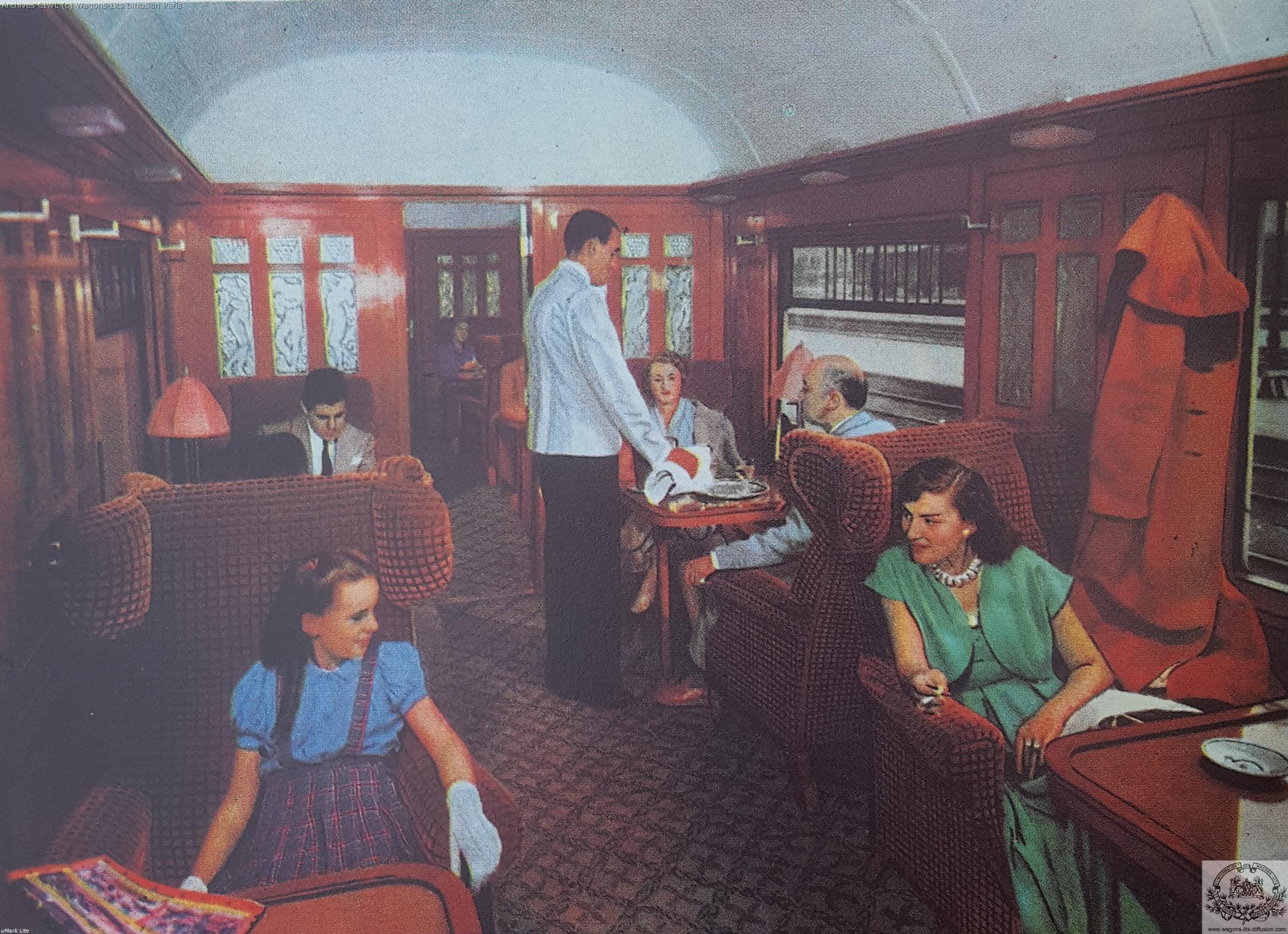 Wl voiture pullman pub 1950