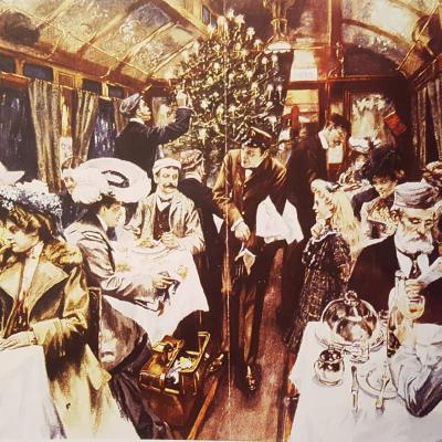 Wl voiture restaurant orient express 1905