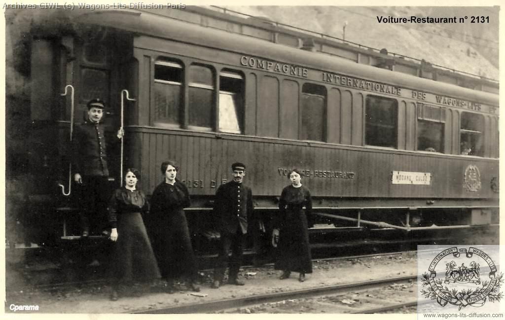 Wl voiture restaurant teck 2131 en 1911