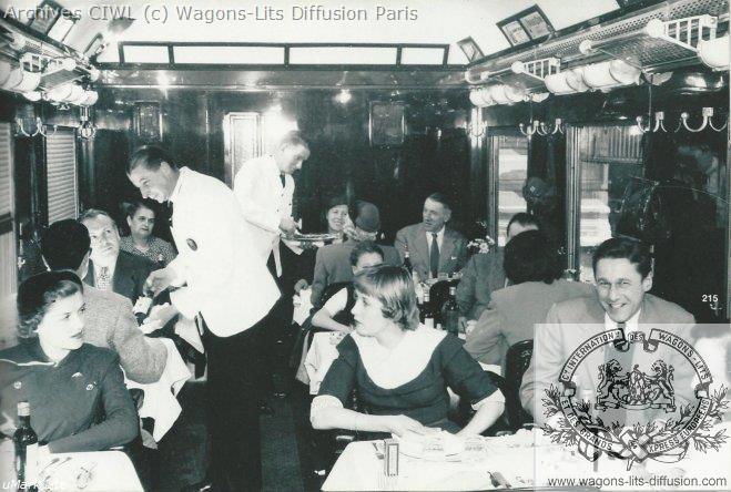 Wl voiture restaurant vr du train bleu vers1960