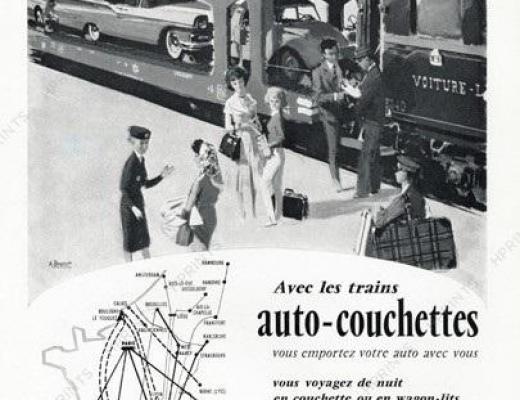 4 wl pub train auto couchettes 1963